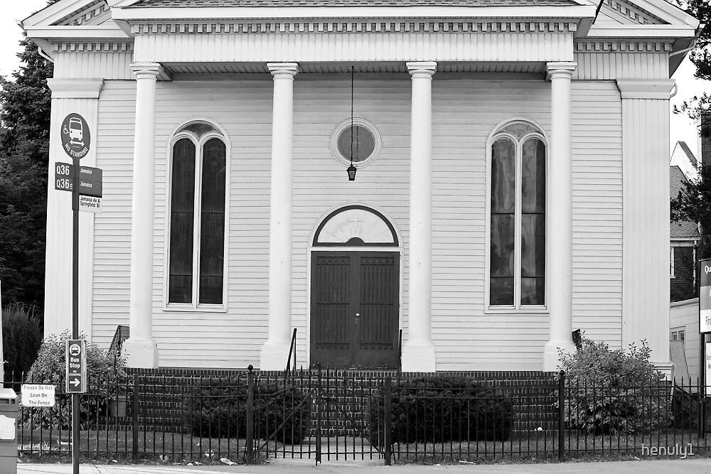 Old Church Facade - B&W  by henuly1