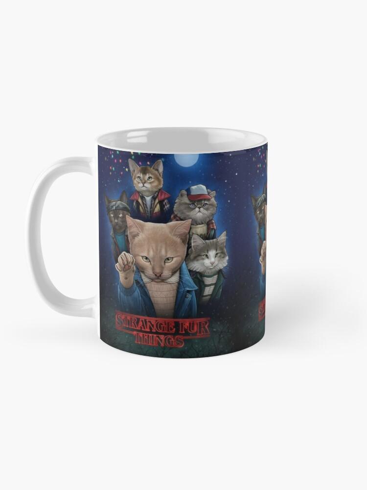 Alternate view of Strange Fur Things Mug