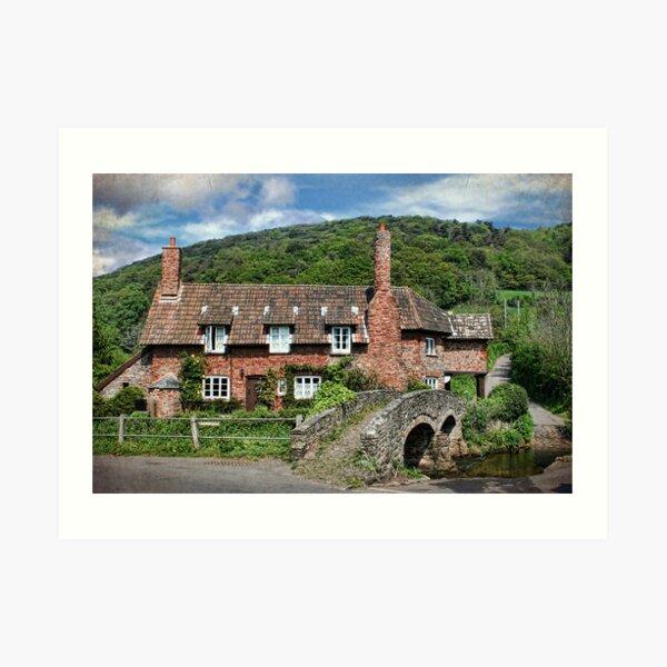 The Packhorse Bridge, Allerford, Somerset Art Print
