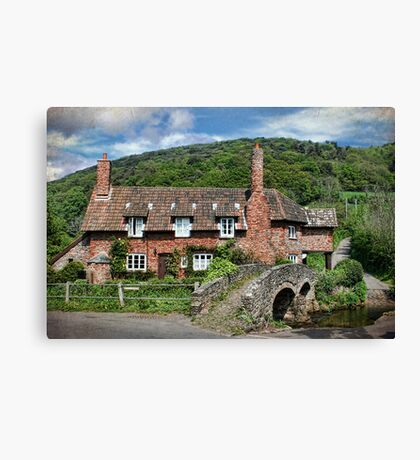 The Packhorse Bridge, Allerford, Somerset Canvas Print