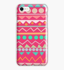 Mayan - Mint/Hot Pink/Orange iPhone Case/Skin