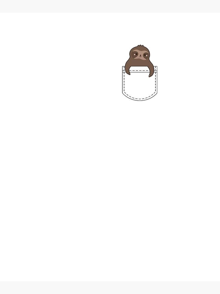 Sloth Cute Kawaii Pocket Sloth by AutonomousN