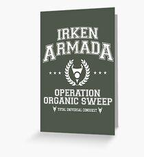 Irken Armada Greeting Card