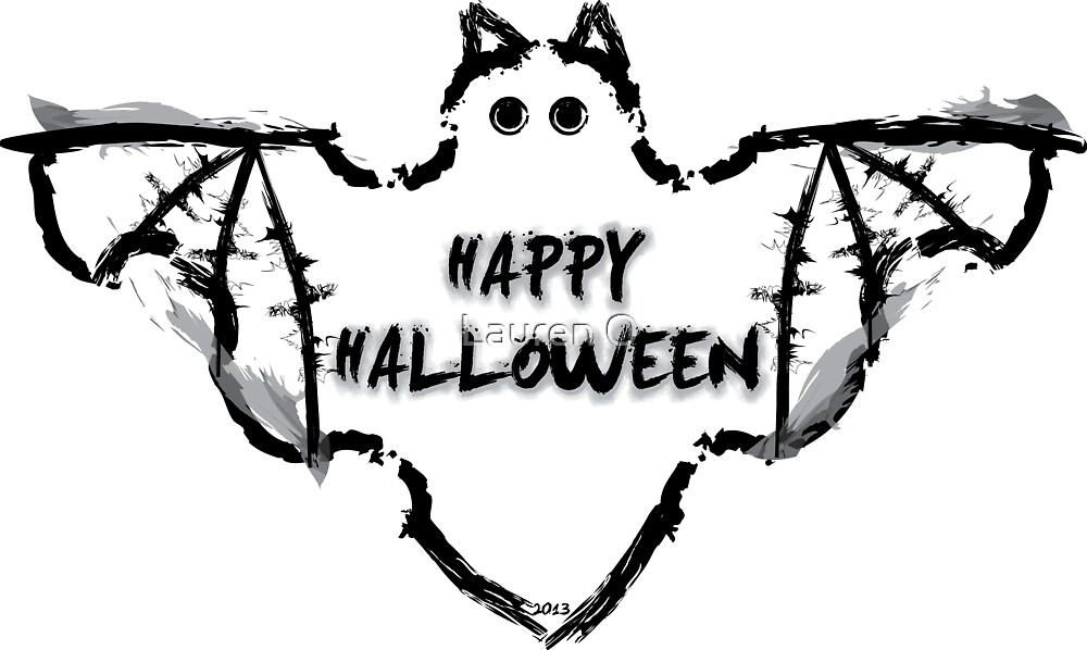 Halloween Bat by Lauren O