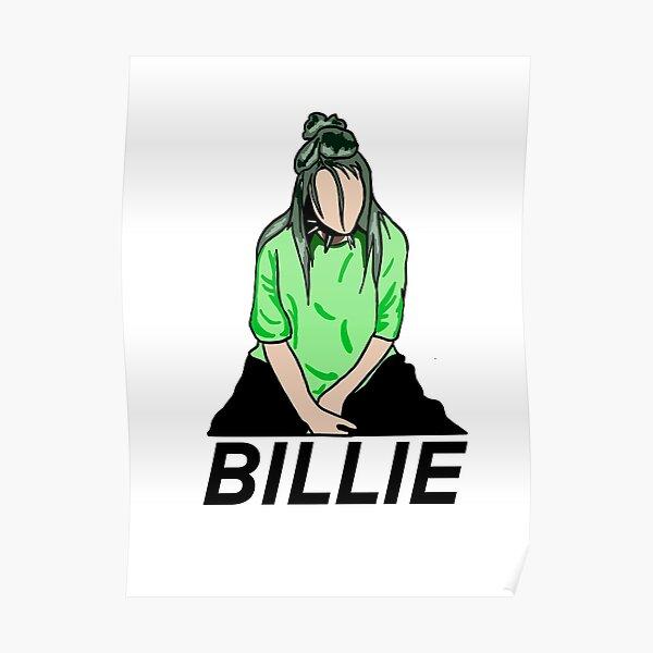 Billie Eilish Green Detailed Poster