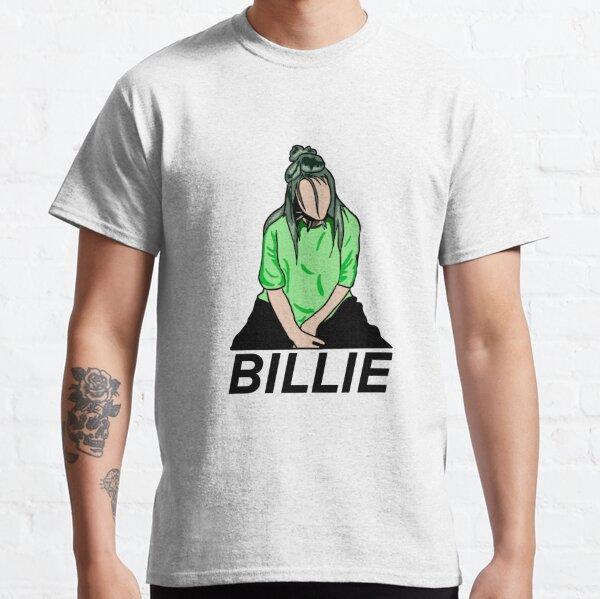 Billie Eilish Green détaillé T-shirt classique