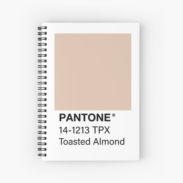 Toasted Almond Pantone Color Swatch Spiral Notebook