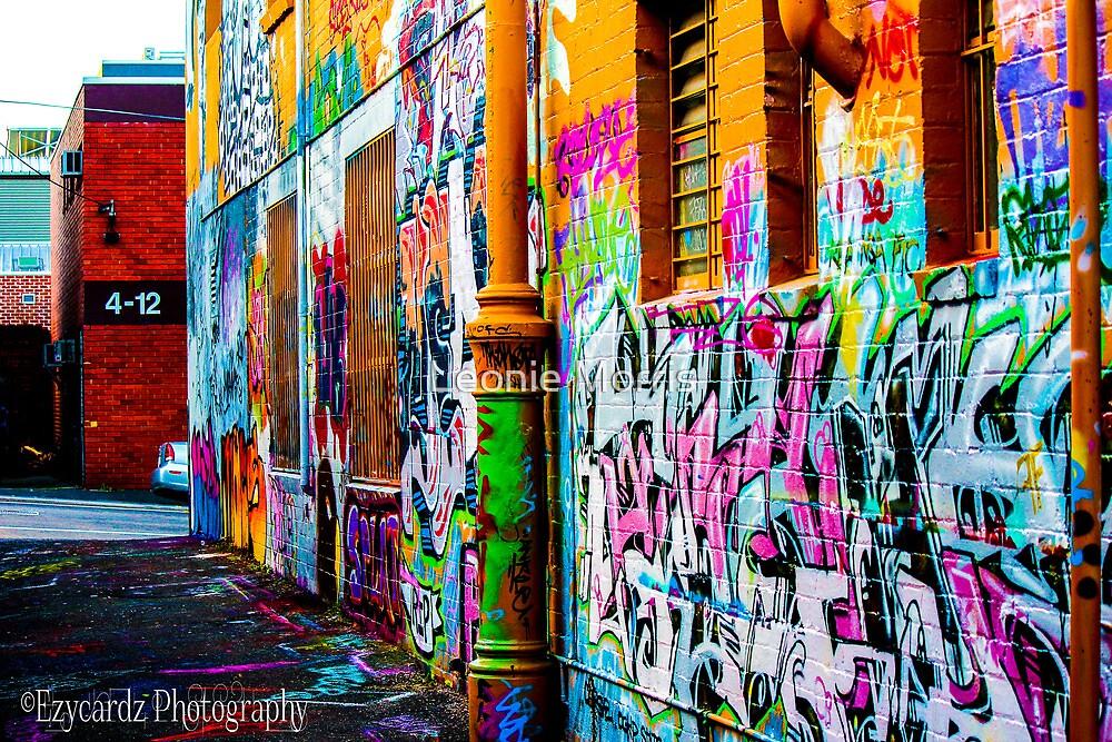 Graffit on Laneway Wall by Leonie Morris