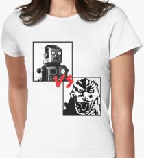 Robots Vs Monsters Women's Fitted T-Shirt