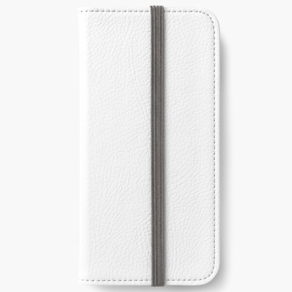 Drawn face on book background iPhone Wallet