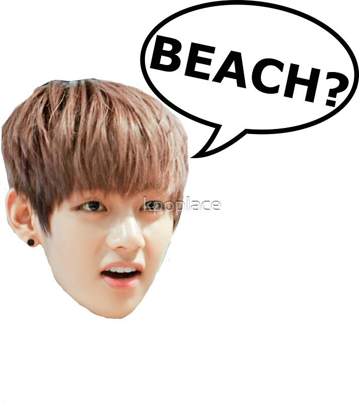 """""""V BTS BEACH"""" Stickers by kpoplace 