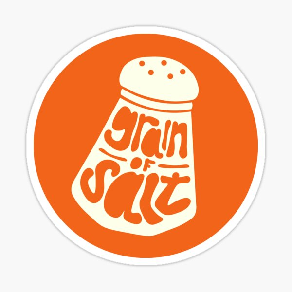 tipping salt shaker Sticker