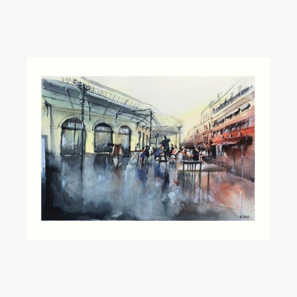 Place des Chartrons - Bordeaux - Watercolor Art Print