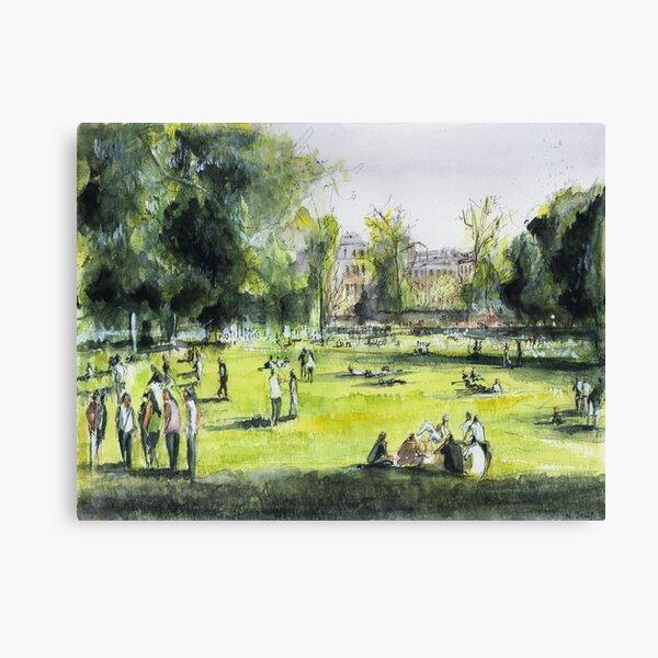 Jardin public - Bordeaux - Watercolor Canvas Print