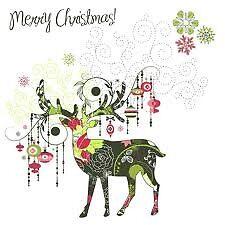 christmas deer greeting card by mariemariam