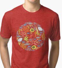 print Sea Tri-blend T-Shirt