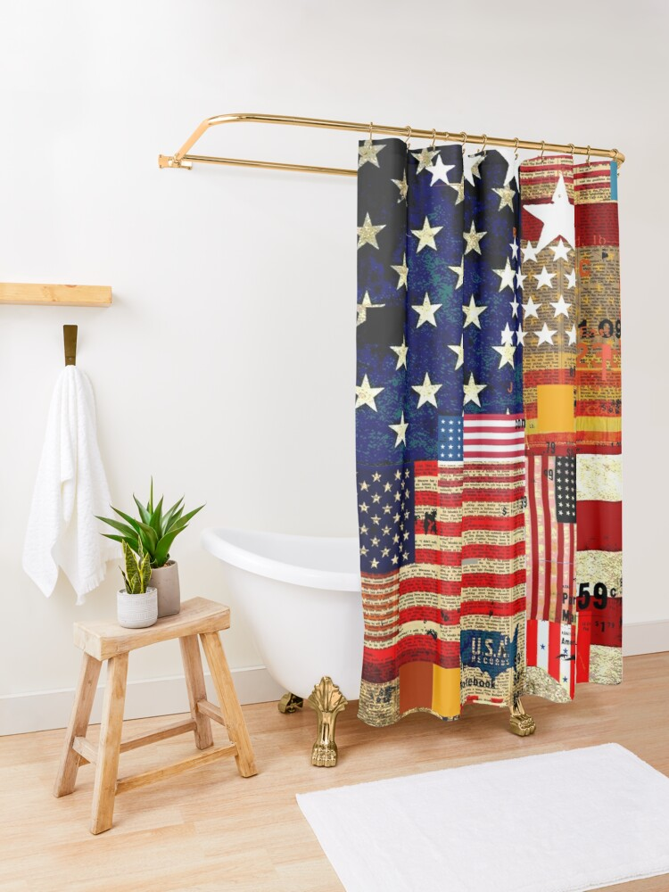 Alternate view of AMERICAN FLAG Shower Curtain