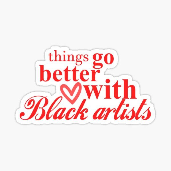 Black Artist Space Coke Logo White Sticker