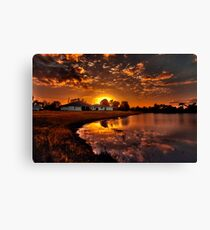 Reflecting sun Canvas Print