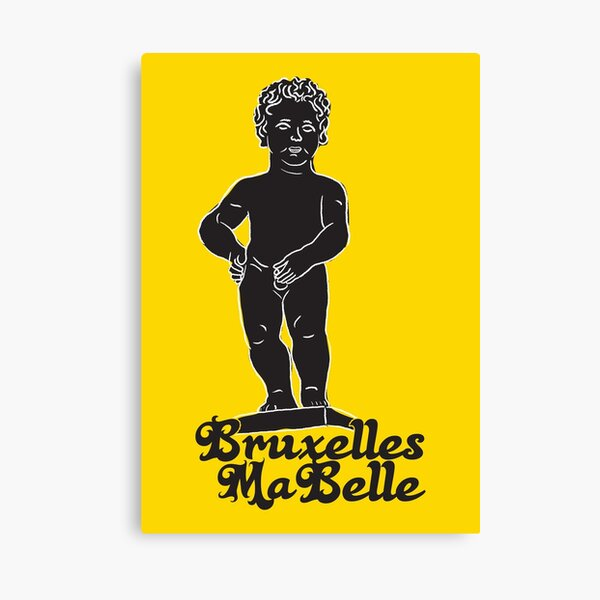 Belgium Manneken Pis YELLOW Canvas Print