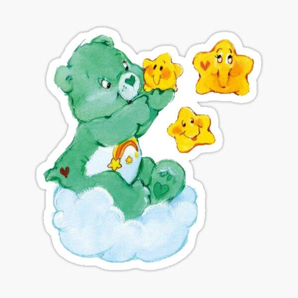 CARE CLASSIC BEARS Wish bear 90S 80S RAINBOW Y2K 2000S nostalgia print Sticker