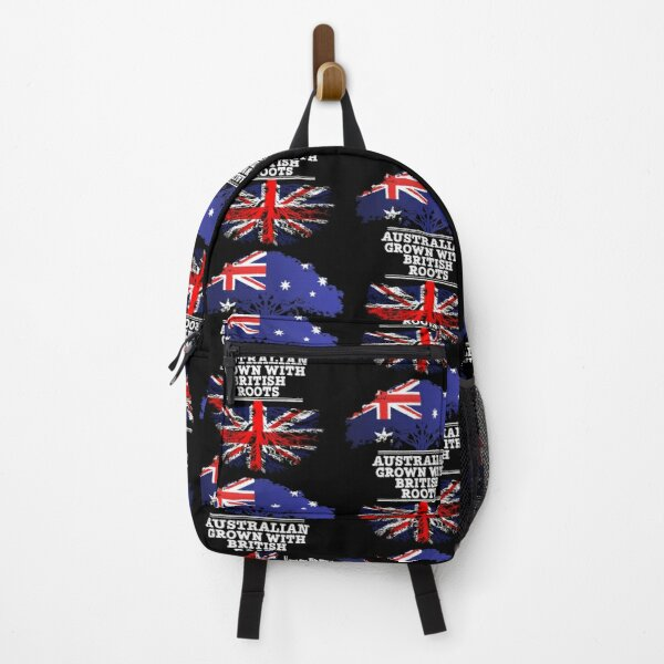 Australian Grown With British Roots - Gift For British From Australia With Country Roots From Great Britain Backpack