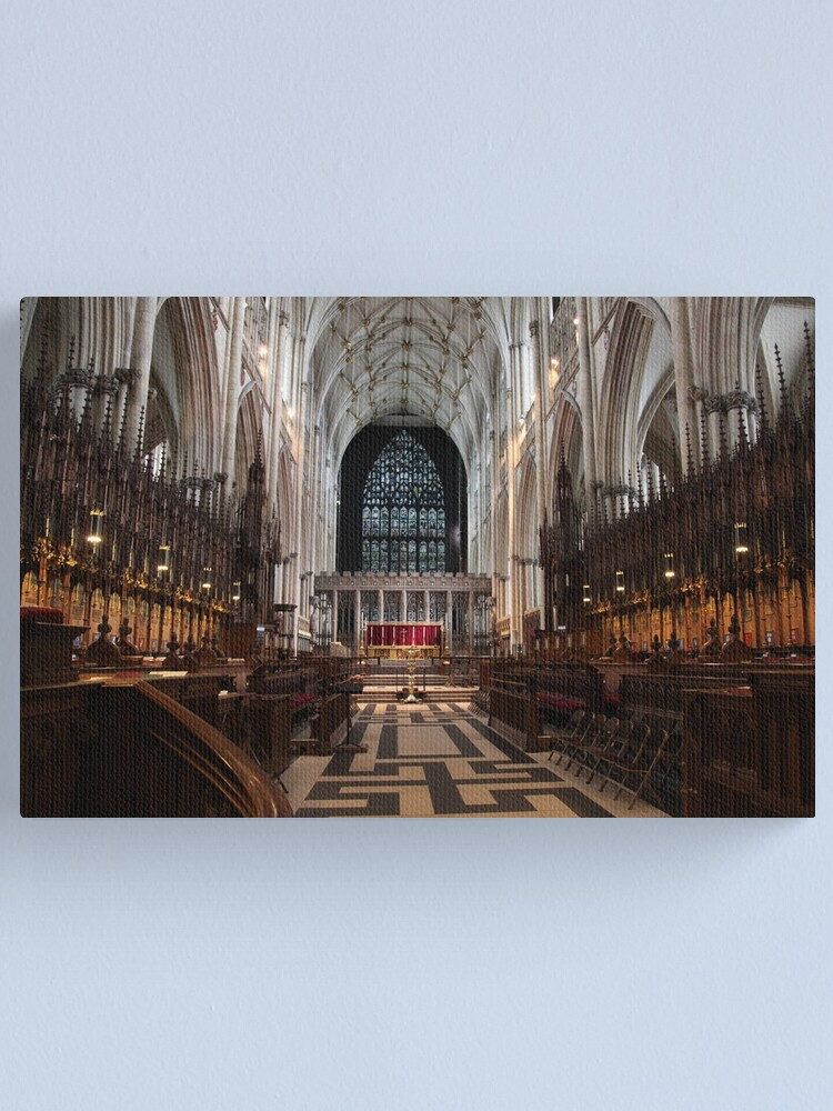 Alternate view of The Choir, York Minster. Canvas Print