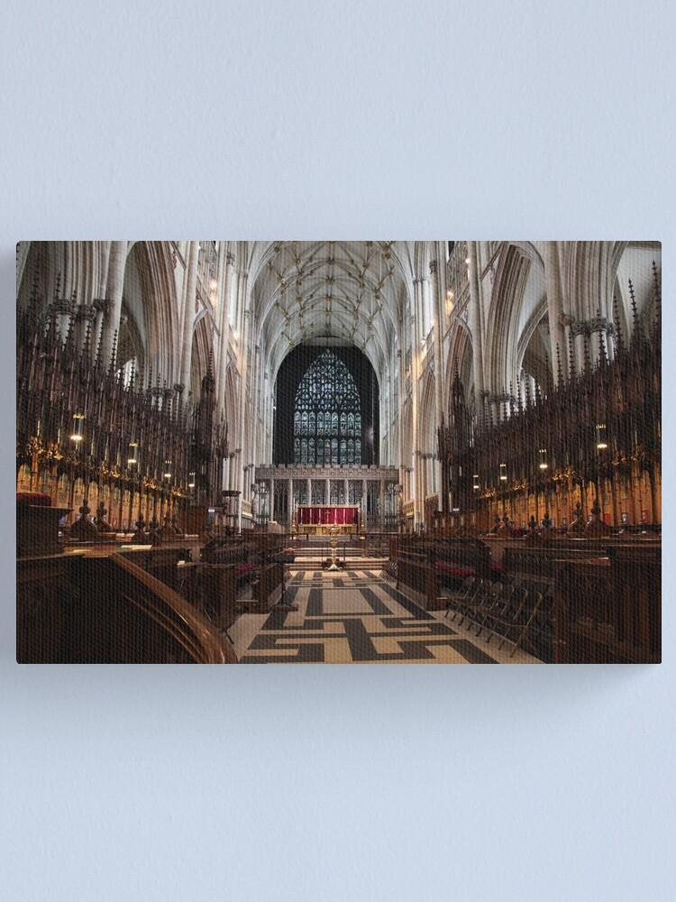 Alternate view of The Choir, York Minster. Canvas Print