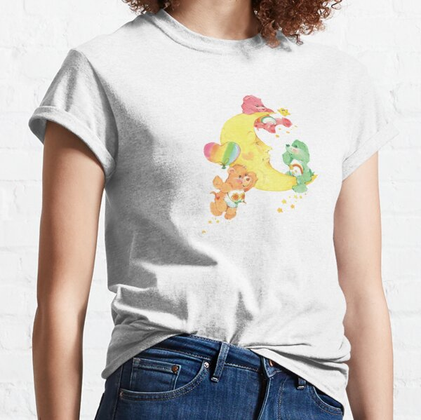 CARE CLASSIC BEARS cheer wish friend bear 90S 80S RAINBOW Y2K 2000S nostalgia print Classic T-Shirt
