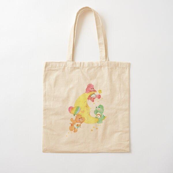 CARE CLASSIC BEARS cheer wish friend bear 90S 80S RAINBOW Y2K 2000S nostalgia print Cotton Tote Bag
