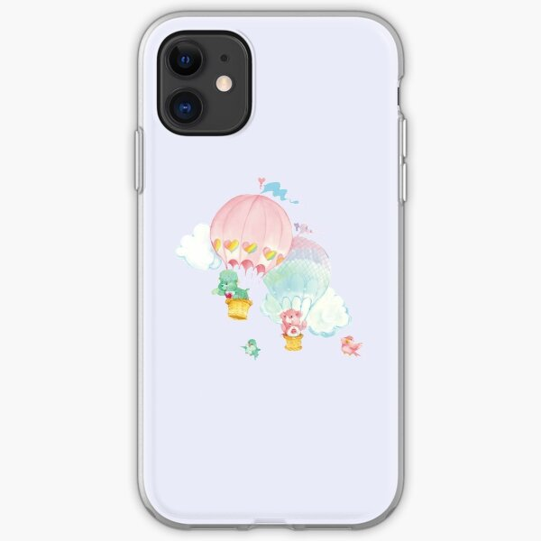 CARE CLASSIC BEARS Lotsa Heart Elephant Gentle Heart Lamb 80S RAINBOW Y2K 2000S nostalgia print iPhone Soft Case