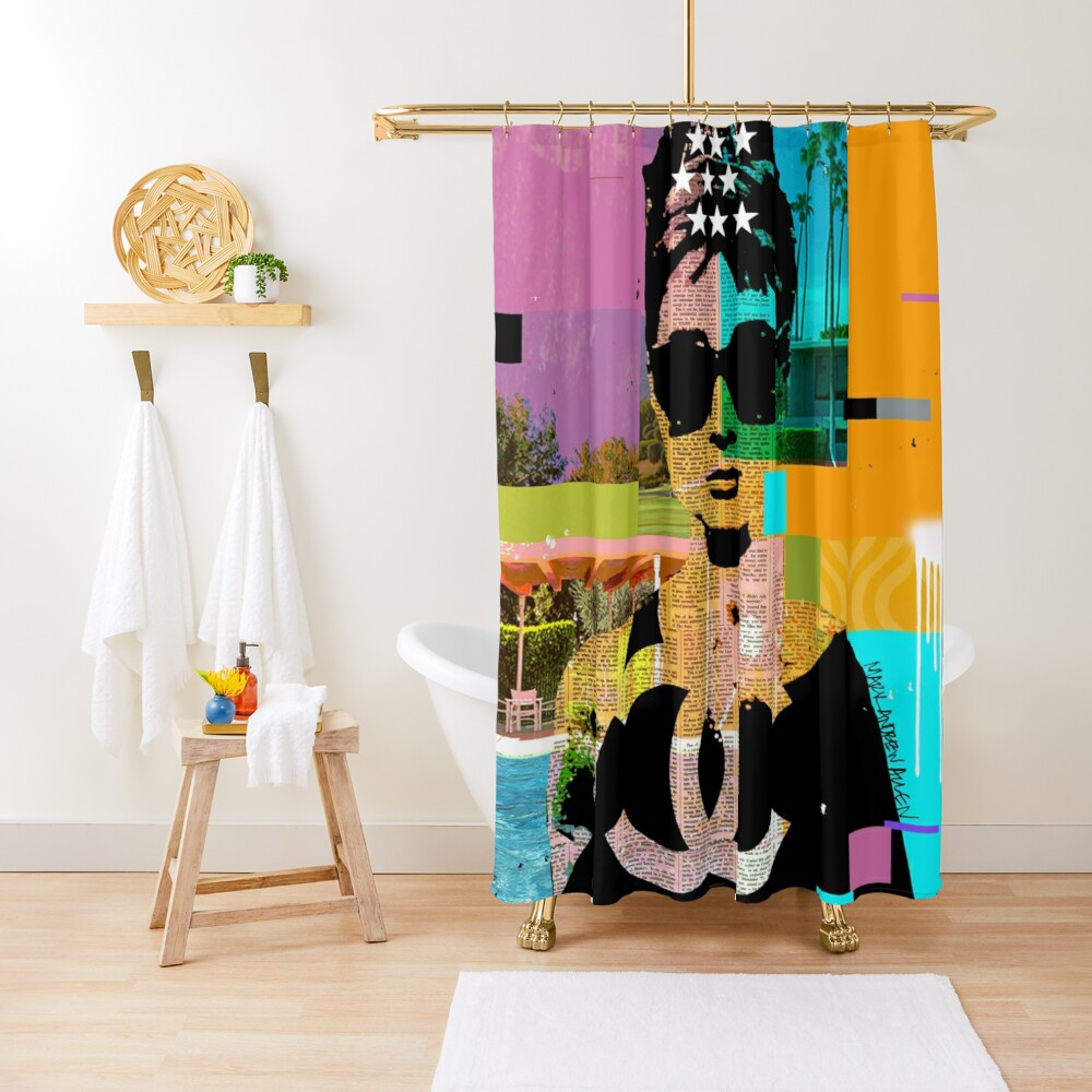 AUDREY PALM TREES Shower Curtain