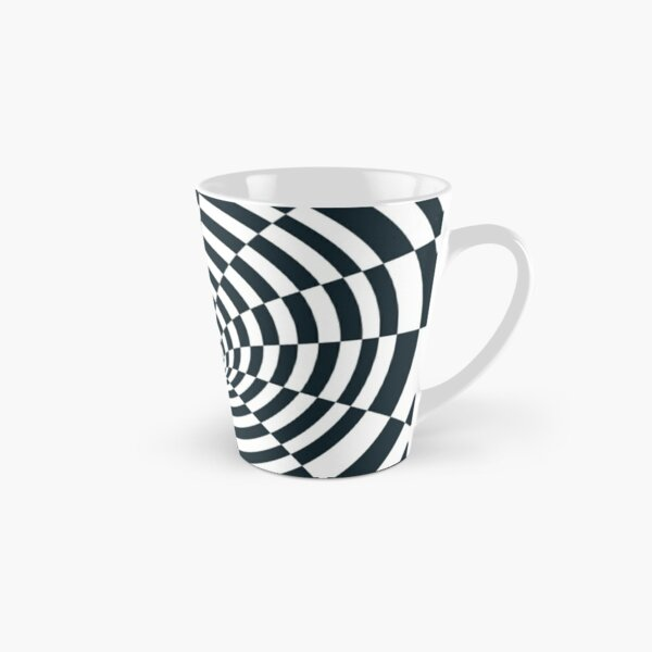 Visual Effect Black And White Rectangles Canal  Tall Mug