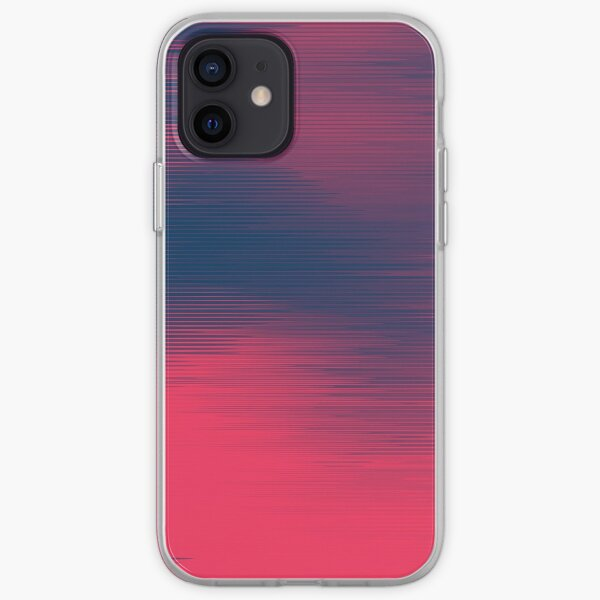 Abstract duotone color lines design iPhone Soft Case