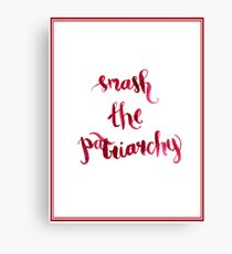 Smash The Patriarchy Canvas Print