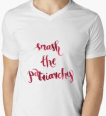 Smash The Patriarchy Men's V-Neck T-Shirt