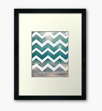 Summer Chevron Framed Print