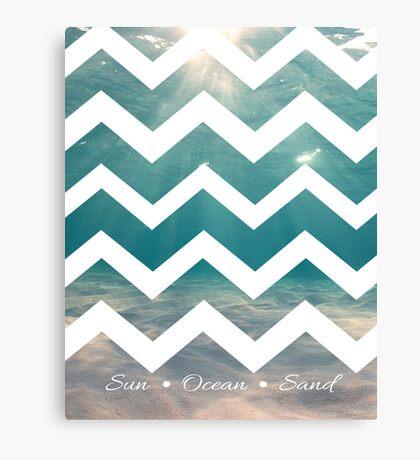 Summer Chevron Canvas Print