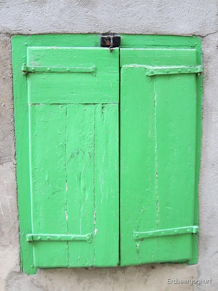 Green shutters by Erdbeeryoghurt