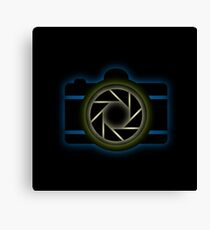 Glowing camera  Canvas Print
