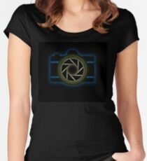 Glowing camera  Women's Fitted Scoop T-Shirt