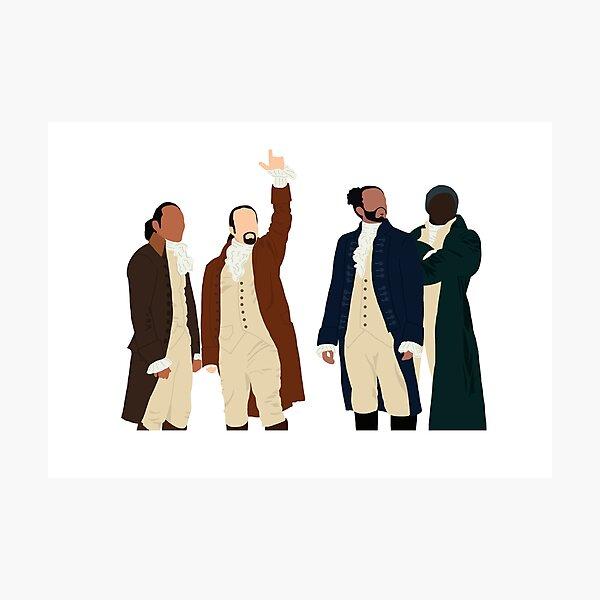 Hamilton, Lafayette, Mulligan and Laurens artwork. Photographic Print