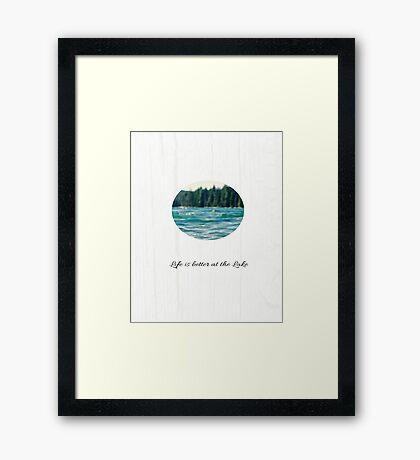 Life on the Lake  Framed Print