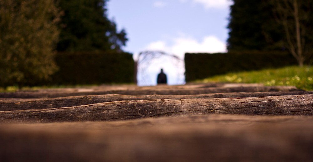 Figure lurking up the Steps by Sam Goodman