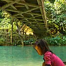 Little Girl starring at Shining Water by MichaelDarn