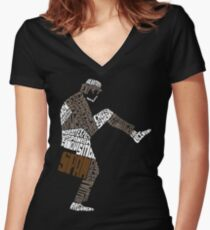 Briefcase Full of Spam (dark bkgd) Women's Fitted V-Neck T-Shirt