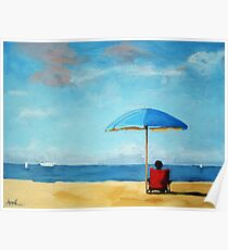 Special Moments - beach scene original oil painting Poster