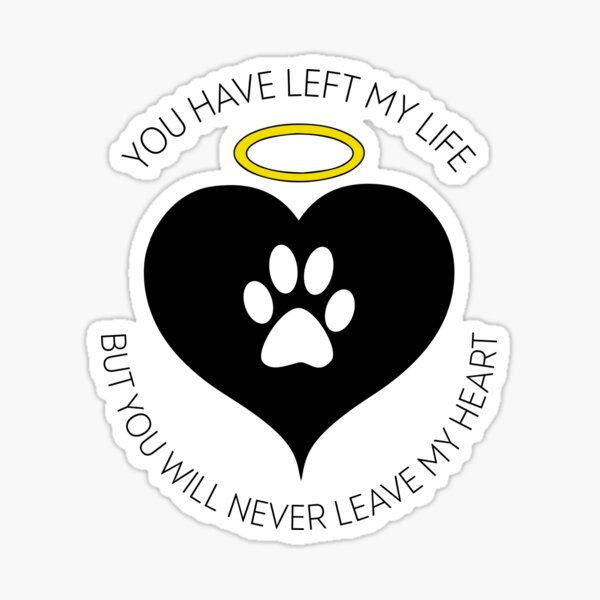 Pet Loss Rainbow Bridge Grieving Quote Sticker