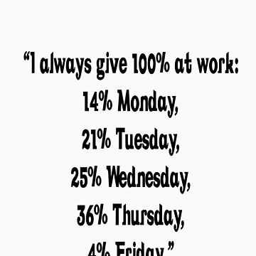 I always give 100% at work! by Randygh