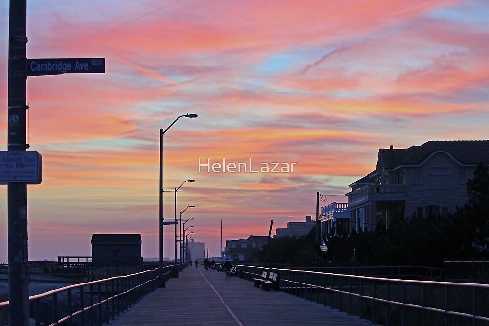 Boardwalk at Sunset by HelenLazar